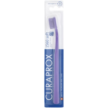 Curaprox 1560 Soft brosse à dents Violet & Violet (Curen Filaments 0,15 mm)