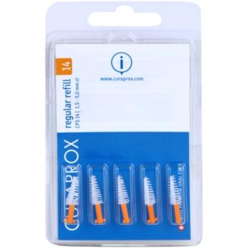 Curaprox Regular Refill CPS blister de brossettes interdentaires coniques de rechange 5 pcs CPS 14 Orange 1,5 - 5,0 mm