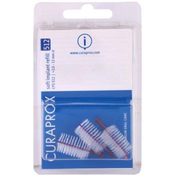 Curaprox Soft Implantat CPS brossettes interdentaires de rechange pour implants 3 pièces CPS 512 Violet 2,0 – 12 mm (Soft Implant Refill)