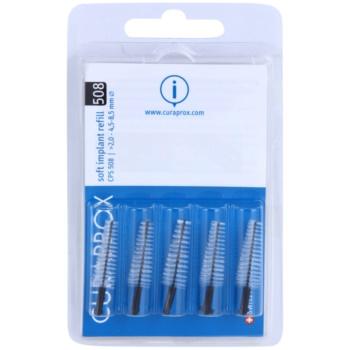 Curaprox Soft Implantat CPS brossettes interdentaires coniques de rechange pour implants 5 pièces CPS 508 Black 2,0 – 4,5 – 8,5 mm (Soft Implant Refil)