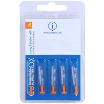 Curaprox Strong & Implant CPS brossettes interdentaires de rechange pour implants 5 pièces CPS 24 Orange 2,0  – 4,4 mm (Strong & Implantat Refill)