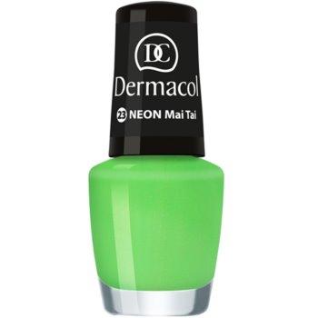Dermacol Neon vernis à ongles néon pour ongles naturels et artificiels teinte 23 Mai Tai 5 ml