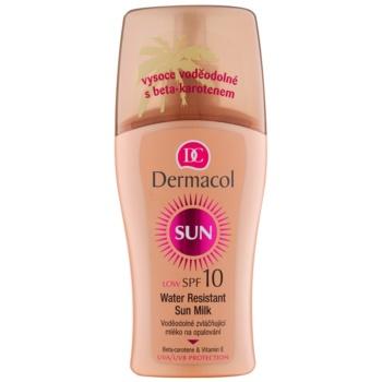 Dermacol Sun Water Resistant lait solaire waterproof SPF 10 (Water Resistant Sun Spray Milk) 200 ml