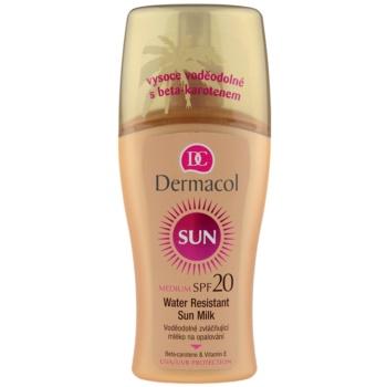 Dermacol Sun Water Resistant lait solaire waterproof SPF 20 (Water Resistant Sun Spray Milk) 200 ml