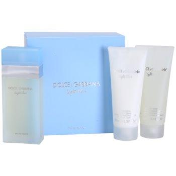 Dolce & Gabbana Light Blue coffret cadeau VI. eau de toilette 100 ml + gel de douche 100 ml + crème corporelle 100 ml