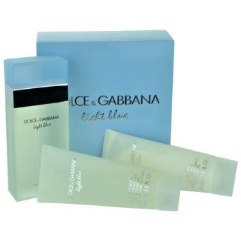 Dolce & Gabbana Light Blue coffret cadeau XII. eau de toilette 100 ml + gel de douche 100 ml + crème corporelle 100 ml