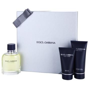 Dolce & Gabbana Pour Homme coffret cadeau IV. eau de toilette 125 ml + baume après-rasage 100 ml + gel de douche 50 ml
