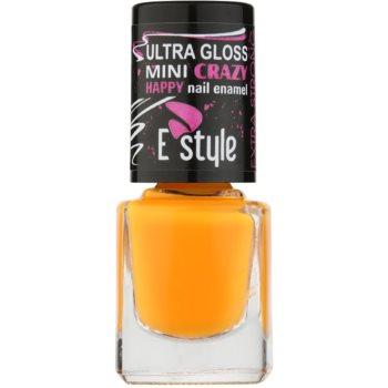 E style Mini Crazy vernis à ongles néon pour ongles naturels et artificiels teinte 31 Orange 7 ml