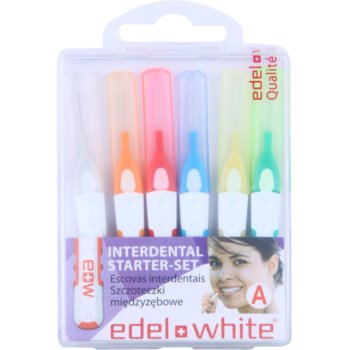 Edel+White Interdental Brushes brossettes interdentaires 6 pièces mix A (Starter-Set)