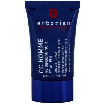 Erborian CC Cream Men crème hydratante unifiante effet matifiant SPF 25 (Black Ginseng) 30 ml