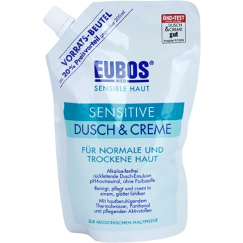 Eubos Sensitive crème de douche à l'eau thermale recharge (Without Dyes, Preservatives and Soap) 400 ml