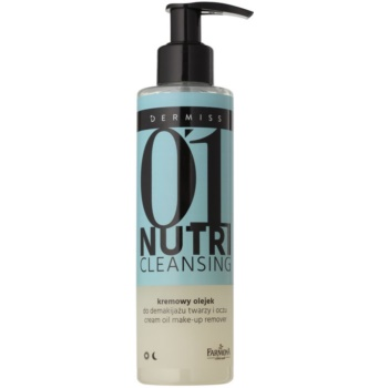 Farmona Dermiss Nutri Cleansing huile démaquillante visage et yeux Step 01 (Argan Oil, Almond Oil, Amber Extract) 200 ml