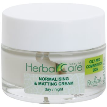 Farmona Herbal Care Green Tea crème jour et nuit normalisante et matifiante pour peaux mixtes et grasses (Witch Hazel Extract, Bioactive Zinc-PCA, Mattifying Biocomplex, Shea Butter, Inutec) 50 ml