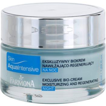 Farmona Skin Aqua Intensive crème de nuit hydratante (Coral, Plankton Extract, Atlantic Algae, Argan Oil, Hyaluronic Acid, Elastin, Inutec) 50 ml