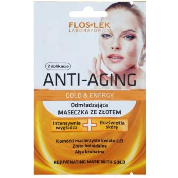 FlosLek Laboratorium Anti-Aging Gold & Energy masque rajeunissant à l'or 2 x 5 ml