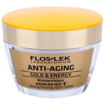 FlosLek Laboratorium Anti-Aging Gold & Energy crème de nuit raffermissante (Improves Smoothness, Boosts Regeneration) 50 ml