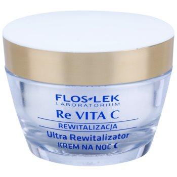FlosLek Laboratorium Re Vita C 40+ crème de nuit revitalisante intense (Vitamin C, Plant Retinol, Cottonseed Oil) 50 ml