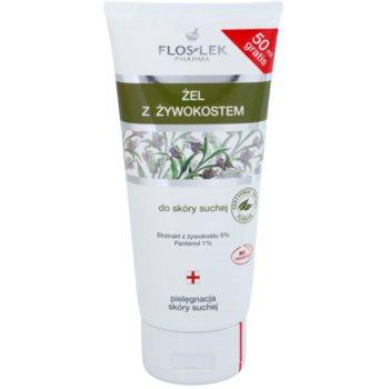 FlosLek Pharma Dry Skin Comfrey gel régénérant visage et corps (Comfrey Extract 5%, Panthenol 1%) 200 ml