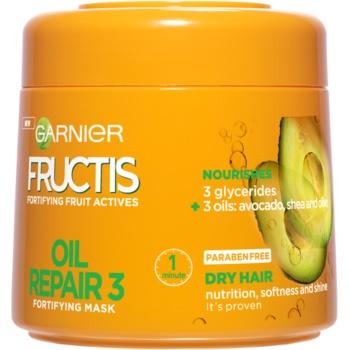 Garnier Fructis Oil Repair 3 masque fortifiant pour chevex secs et abîmés (Fortifying Mask) 300 ml
