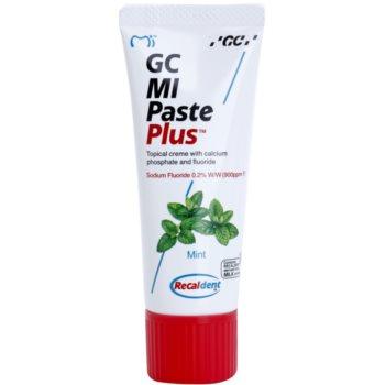 GC MI Paste Plus Mint crème protectrice reminéralisante pour dents sensibles au fluorure à usage professionnel (Topical Creme with Calcium, Phosphate and Fluoride) 35 ml