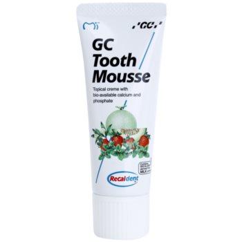 GC Tooth Mousse Tutti Frutti crème protectrice reminéralisante pour dents sensibles sans fluorure à usage professionnel (Topical Creme with Calcium, Phosphate) 35 ml