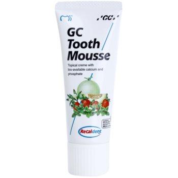 GC Tooth Mousse Vanilla crème protectrice reminéralisante pour dents sensibles sans fluorure à usage professionnel (Topical Creme with Calcium, Phosphate) 35 ml