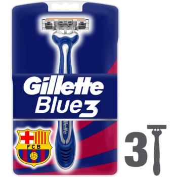Gillette Blue 3 FCBarcelona rasoirs jetables 3 pcs