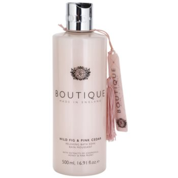 Grace Cole Boutique Wild Fig & Pink Cedar bain moussant relaxant (With Extracts of Chamomile Honey & Pink Peony) 500 ml