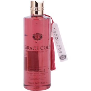 Grace Cole Boutique Warm Vanilla & Sandalwood gel douche et bain apaisant (With Extracts of Vanilla, Sandalwood & Vitamin E) 500 ml