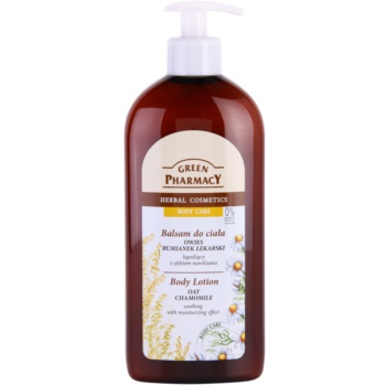 Green Pharmacy Body Care Oat & Chamomile lait corporel apaisant effet hydratant (0% Parabens, Artificial Colorants) 500 ml
