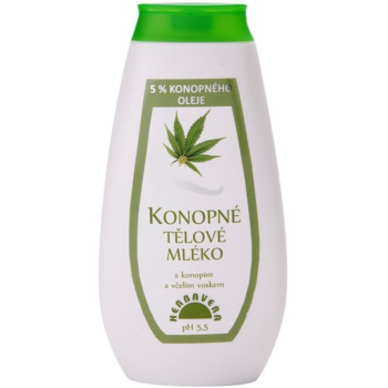Herbavera Body lait corporel à l'huile de chanvre (With Cannabis And Beeswax) 400 ml