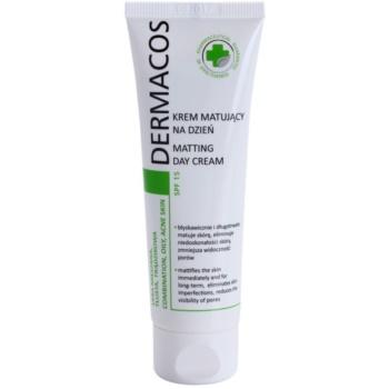Ideepharm Dermacos Combination Oily Acne Skin crème de jour matifiante SPF 15 50 ml