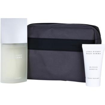 Issey Miyake L'Eau D'Issey Pour Homme coffret cadeau IV. eau de toilette 125 ml + gel de douche 75 ml + trousse de maquillage