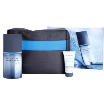 Issey Miyake L'Eau D'Issey Pour Homme Sport coffret cadeau IV. eau de toilette 50 ml + gel de douche 30 ml + trousse de maquillage