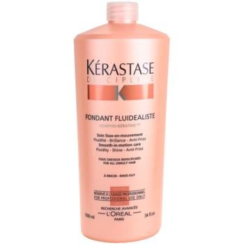 Kérastase Discipline soin lissant pour tous les types de cheveux difficiles à coiffer Fondant Fluidealiste (Smooth-in-Motion Care Fluidity – Shine – Anti-Frizz  for All Unruly Hair) 1000 ml