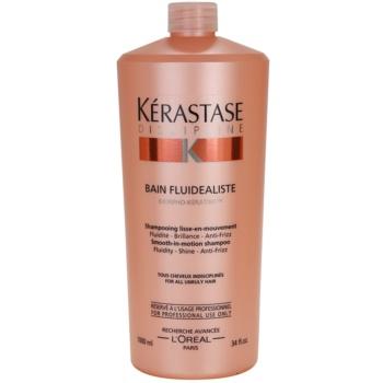 Kérastase Discipline shampoing pour cheveux indisciplinés Bain Fluidealiste (Smooth-in-Motion Shampoo For All Unruly Hair) 1000 ml