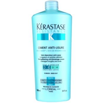Kérastase Resistance soin fortifiant intense pour cheveux fragilisés et usés et pour pointes fourchues Ciment Anti-Usure [1 2] (Strengthening Anti-Breakage Cream) 1000 ml