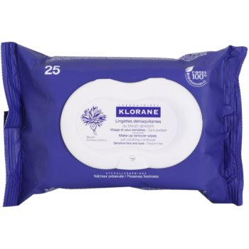 Klorane Yeux Sensibles lingettes démaquillantes (Make-up Remover Wipes) 25 pcs