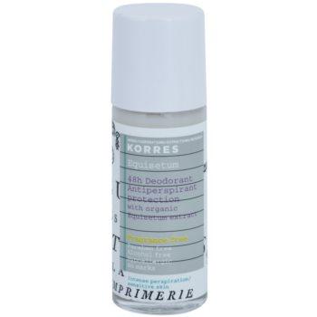 Korres Body Equisetum déodorant roll-on sans parfum 48h (Paraben Free, Alcohol Free, Hypoallergrnic, No Marks) 30 ml