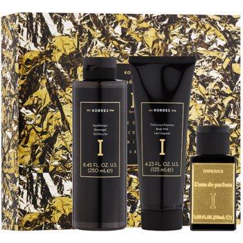 Korres Premium L´Eau De Parfum I coffret cadeau I. eau de parfum 50 ml + gel de douche 250 ml + lait corporel 125 ml