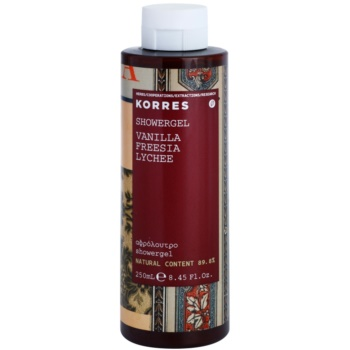 Korres Vanilla (Freesia/Lychee) gel douche pour femme 250 ml