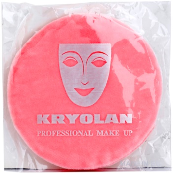 Kryolan Basic Accessories houppette grand format Ø 10 cm (Premium Powder Puff with Finger Pocket)