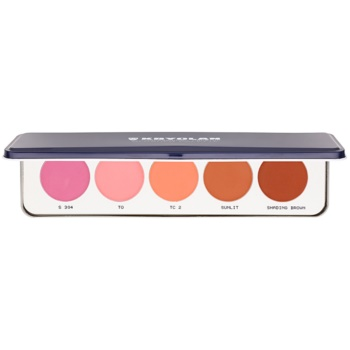 Kryolan Basic Face & Body palette de blush 5 couleurs (Matt) 12,5 g