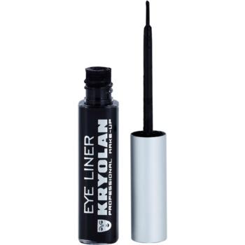 Kryolan Basic Eyes eyeliner liquide avec applicateur teinte Black (Waterproof) 6 ml