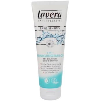 Lavera Basis Sensitiv lait nettoyant visage (Cleansing Milk 2 in 1 Bio Jojoba and Bio Shea Butter) 125 ml