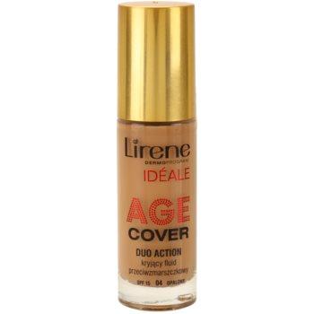 Lirene Idéale Age Cover fond de teint fluide couvrant anti-rides 04 Tanned SPF 15 (Duo Action) 30 ml