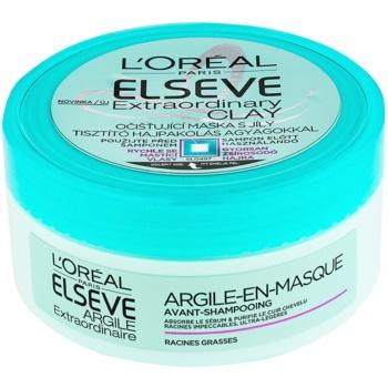 L'Oréal Paris Elseve Extraordinary Clay masque purifiant pour cheveux qui deviennent gras très vite 150 ml