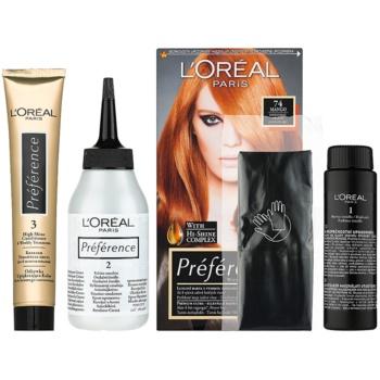 L'Oréal Paris Préférence coloration cheveux teinte 74 Mango