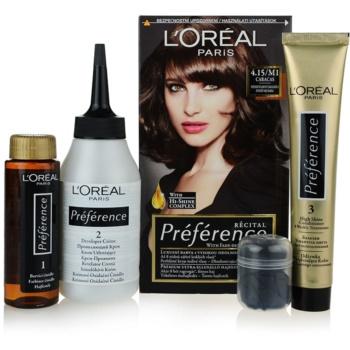 L'Oréal Paris Préférence coloration cheveux teinte 4.15/M1 Caracas 1 cap