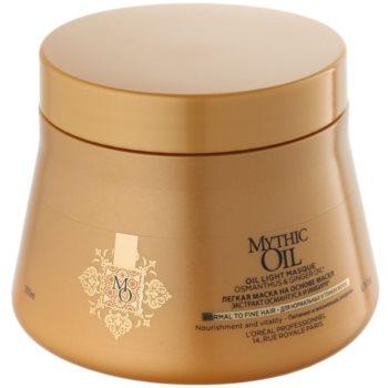 L'Oréal Professionnel Mythic Oil masque léger à l'huile pour cheveux normaux à fins sans parabènes ni silicones (Oil Light Masque – Osmanthus and Ginger Oil) 200 ml